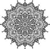 Teste padrão da mandala preto e branco Fotografia de Stock