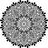 Teste padrão da mandala preto e branco Fotos de Stock