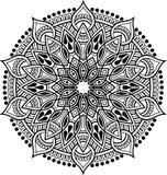 Teste padrão da mandala preto e branco Fotografia de Stock Royalty Free