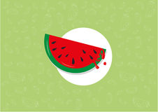 Teste padrão da melancia ilustração stock