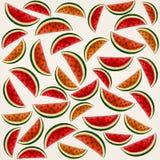 Teste padrão da melancia - aquarelas ilustração royalty free