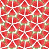 Teste padrão da melancia Teste padrão sem emenda Textura da cópia Projeto da tela Foto de Stock