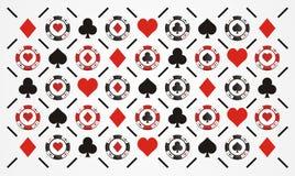 Teste padrão da microplaqueta de pôquer Imagem de Stock Royalty Free