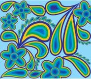 Teste padrão da mola da cor contours1 Ilustração do Vetor