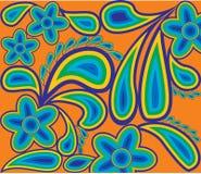 Teste padrão da mola dos contornos da cor Ilustração Royalty Free