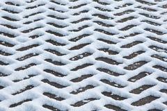Teste padrão da neve Fotos de Stock Royalty Free