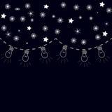 Teste padrão da noite do ano novo Imagens de Stock Royalty Free