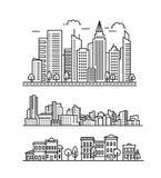 Teste padrão da paisagem da cidade Foto de Stock