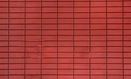 Teste padrão da parede de tijolos vermelhos na casa asiática foto de stock