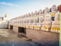 Teste padrão da pedra budista de Saint, no estilo arquitetónico coreano, Fotos de Stock Royalty Free