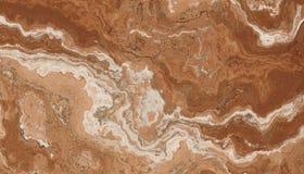 Teste padrão da pedra do mármore de Brown Fotografia de Stock