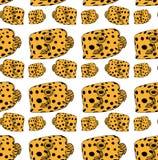 teste padrão da Peixe-caixa amarelo ilustração stock