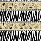 Teste padrão da pele da zebra Imagem de Stock Royalty Free
