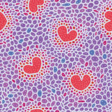 Teste padrão da pilha com corações Imagem de Stock Royalty Free
