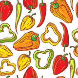 Teste padrão da pimenta Fotos de Stock