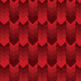 Teste padrão da Pixel-arte do coração imagem de stock