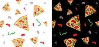 Teste padrão da pizza Fotos de Stock Royalty Free