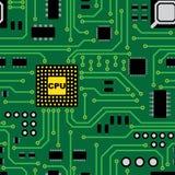Teste padrão da placa de circuito Foto de Stock