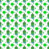 Teste padrão da repetição dos seamles dos pontos do cacto Fotos de Stock