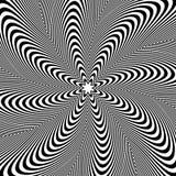 Teste padrão da rotação, fundo circular Irradiando linhas sumário ilustração stock