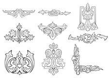 Teste padrão da silhueta da flor Ilustração Royalty Free