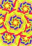 Teste padrão da solha da cor Fotos de Stock