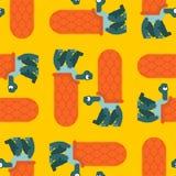 Teste padrão da tartaruga sem emenda Fundo anfíbio Textura do pano das crianças Ornamento animal ilustração do vetor