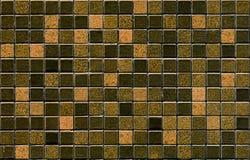 Teste padrão da telha de mosaico de Brown Fotos de Stock