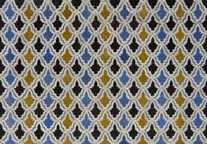 Teste padrão da telha de Zellige do marroquino Fotografia de Stock Royalty Free
