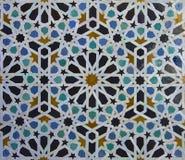 Teste padrão da telha de Zellige do marroquino imagens de stock royalty free