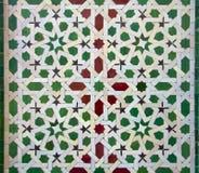 Teste padrão da telha de Zellige do marroquino imagens de stock