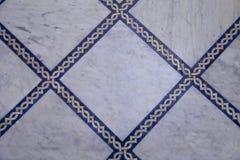 Teste padrão da telha de Zellige do marroquino foto de stock royalty free