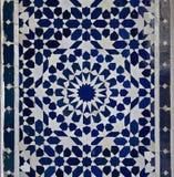 Teste padrão da telha de Zellige do marroquino fotos de stock royalty free