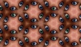 Teste padrão da telha do olho Fotos de Stock Royalty Free