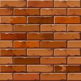 Teste padrão da textura do fundo da parede de tijolo do vetor Fotografia de Stock Royalty Free