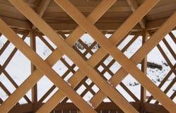 Teste padrão da varanda de madeira imagem de stock