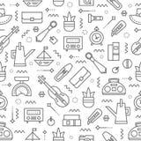 Teste padrão 1 da venda de garagem ilustração stock