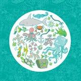 Teste padrão da vida marinha Imagem de Stock
