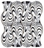 Teste padrão da zebra ilustração royalty free