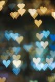 Teste padrão dado forma coração de bokeh/defocus Fotos de Stock Royalty Free