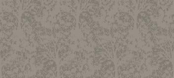 Teste padrão dado forma do papel de parede árvore sem emenda Fotografia de Stock Royalty Free