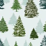 Teste padrão das árvores de Natal ilustração royalty free