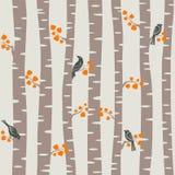 Teste padrão das árvores do outono Fotos de Stock Royalty Free