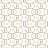 Teste padrão das alianças de casamento estilizados do fio de cobre Imagens de Stock