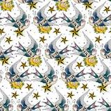 Teste padrão das andorinhas Fotografia de Stock Royalty Free