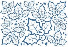 Teste padrão das bagas do azevinho ilustração royalty free