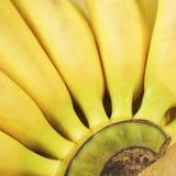 Teste padrão das bananas maduras Fotografia de Stock Royalty Free