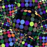 Teste padrão das bolas 3d do brilho Fundo abstrato amarelo verde vermelho azul ilustração royalty free