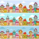 Teste padrão das casas Foto de Stock Royalty Free