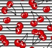 Teste padrão das cerejas ilustração stock